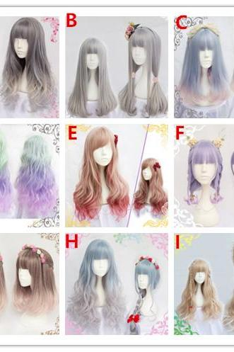 J-fashion Harajuku 9 Styles Lolita Kawaii Long Curly Daily Wigs LK18032210