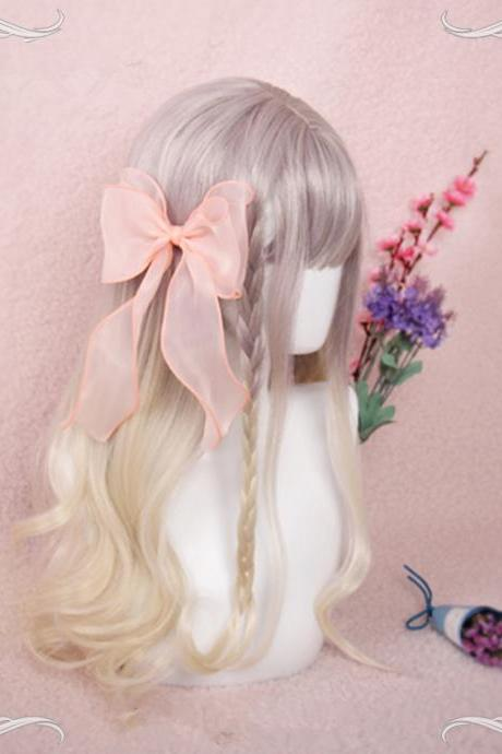 J-fashion Harajuku Graduated Color Long Curly Daily Wigs LK18032212