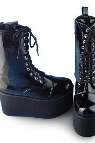Free Shipping Punk Simple Leather Boots LK15052807