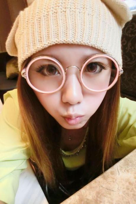 5 Colors Kawaii Candy Colors Big Glasses LK16041808